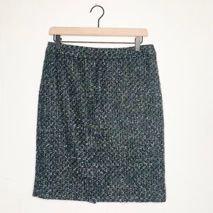 J. Crew Casual Tweed Mini Pencil Skirt